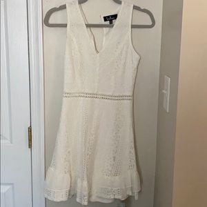 Lulus love you always white lace skater dress